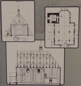 Plan kościoła w Polanie
