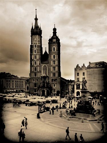 Kościół Mariacki - widok z Sukiennic